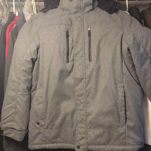 NWOT MENS XXL HOODED JACKET IN HEATHER GRAY